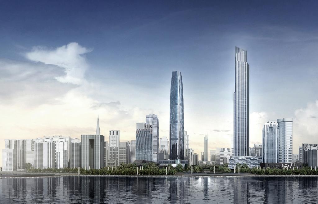 结构形式及特色:塔楼采用巨型框架核心筒结构体系由钢筋